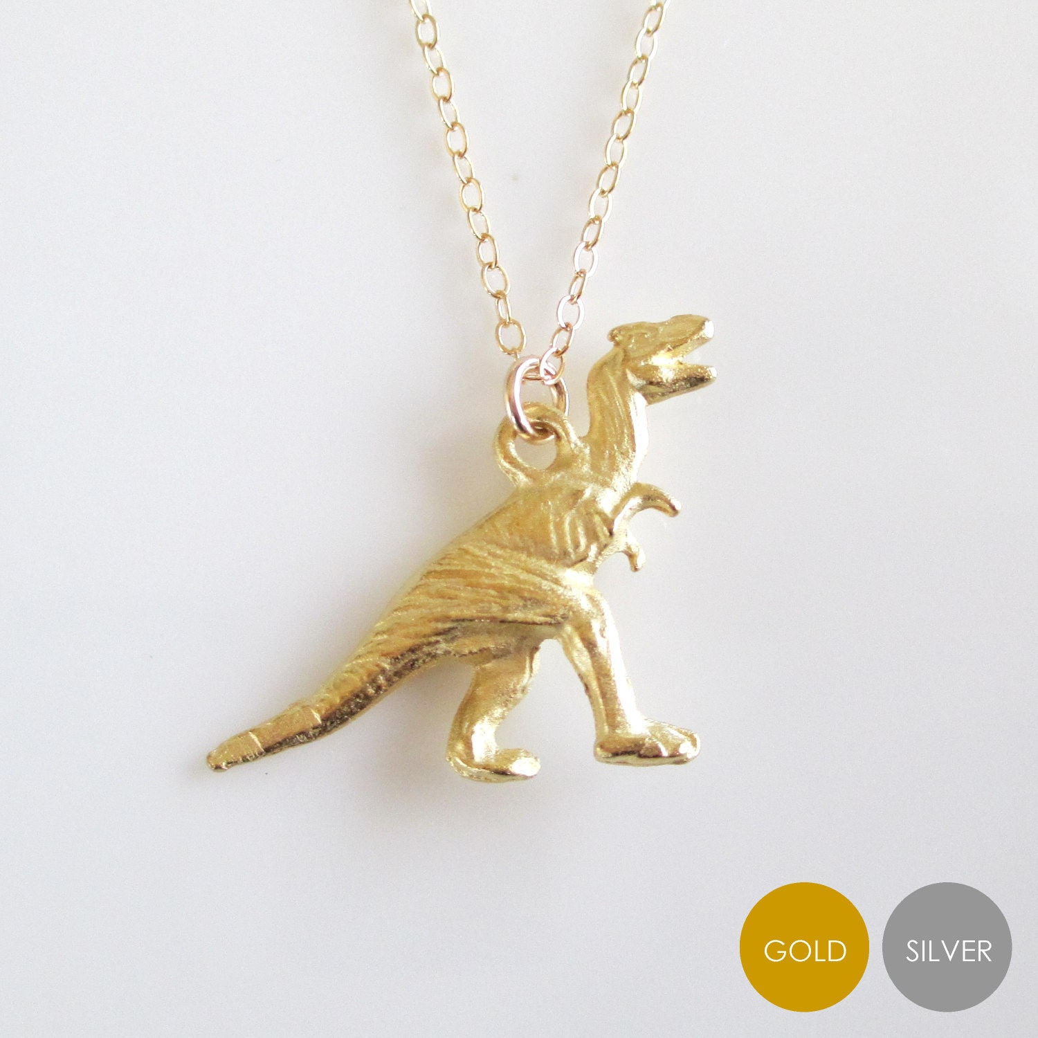 dino stegosaurus necklace dinosaur mighty gold products pendant