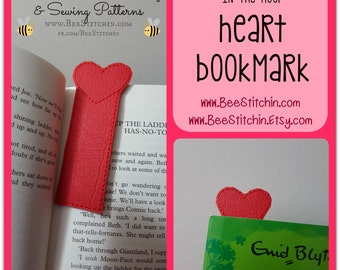 Heart ITH Bookmark - 4x4 5x7 Embroidery Design - INSTANT DOWNLOAD