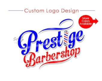 Barbershop Logo, Custom Logo, Logo Design, Logo Custom, Barber pole Logo, Logo, Business Logo, Shop Logo, Barber Shop Logo, Salon Branding