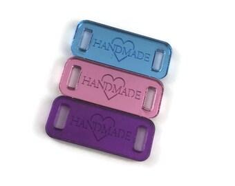 Handmade Mirror Acrylic Tags/ Mirror Tags/Engraved Tags/Knit Tags/Crochet Tags/Yarn Tags/Branded Tags