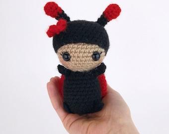 PATTERN: Lulu the Ladybug - Crochet butterfly pattern - amigurumi butterfly pattern - crocheted butterflies - PDF crochet pattern