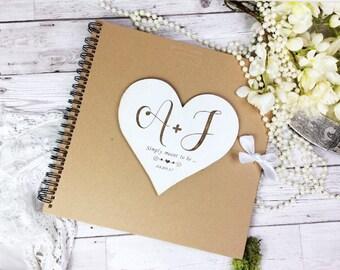 Wedding guestbook, rustic wedding accessories , shabby chic wedding guestbook.  Unique guestbook, Guestbook, personalised guestbook.