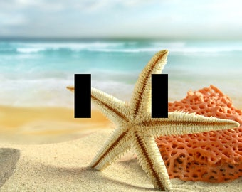 Beach Starfish Shell Double Light Switch Plate Cover