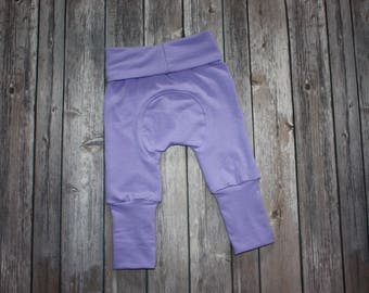 Miniloones,Grow With Me,Lilac Baby Pants, Cloth Diaper Pants,Baby Leggings,Baby Maxaloones, Toddler Pants,Adjustable Pants,Evolution Pants