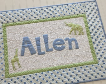 Personalized Name Wall Hanging Custom Heavily Quilted
