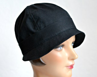 Cloche Rain Hat - Waxed Canvas Rain Hat - Made To Order - 2 WEEKS FOR SHIPPING