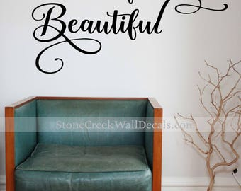 Teen Wall Decals Etsy - Wall stickers for bedrooms teens