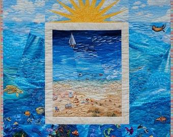 Beach Scene Quilt Pattern - PDF version