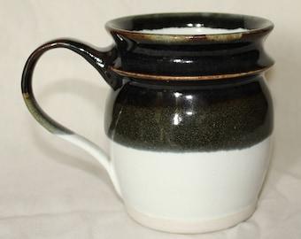 Pair of Black and White Mugs