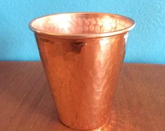 10oz Hammered Copper Tumbler