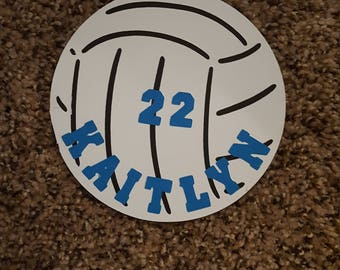 Personalized Volleyball Cut Outs