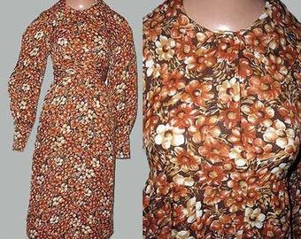 Vintage 70s Leo Narducci Babydoll Dress  S