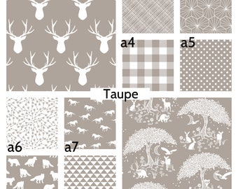 Taupe Crib Bedding 40+ Prints! Crib Sheet Skirt Changing Pad Cover Boppy Cover Baby Quilt Toddler Dark Blue Nursery Decor Deer Woodland