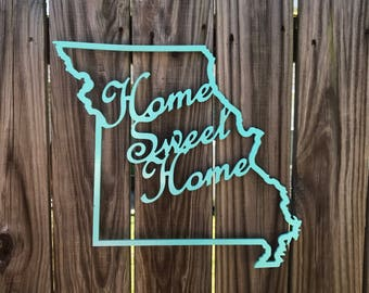 ON SALE Home sweet home sign - state signs - home state sign - routed wood signs - custom wood signs - personalized state signs - housewarmi