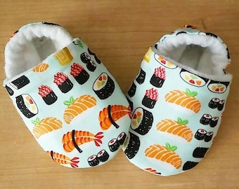 Sushi Theme Baby Booties. Size newborn to US 7