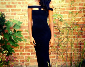 Off The Shoulder Full Length Gown