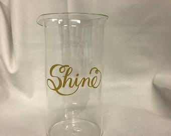 "Glass Beaker ""Shine"""