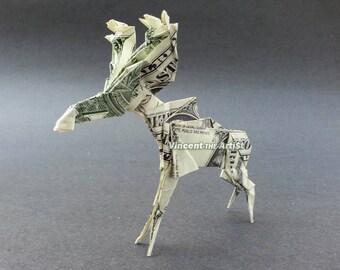 MOOSE Money Origami Dollar Bill Animal Cash Sculptors Bank Note Handmade