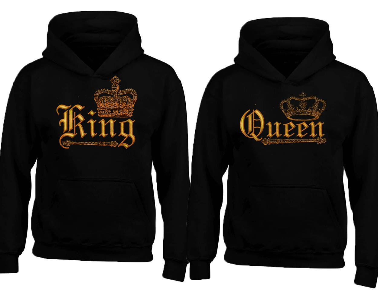 wild king queen gold soul mate couple hoodie sweaters cartoon. Black Bedroom Furniture Sets. Home Design Ideas