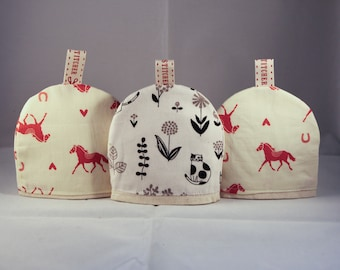 Horse and Cat design egg cosies