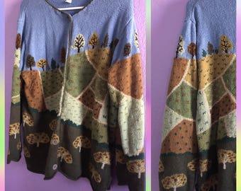 Trees/Autumn/Knit Vintage Cardigan