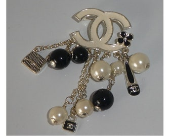 Chanel Charm Brooch. Authentic. Hallmarked. PreOwned. Not For UK