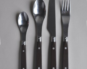 RARE Rowoco Modernist Rivet Cutlery - Made in France - Set of 21