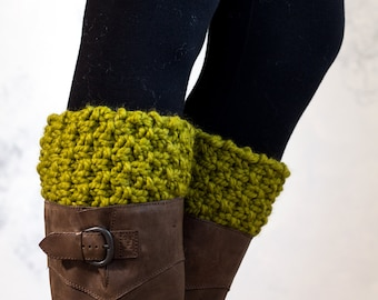 Boot Cuff Knitting Pattern - TO LEAD - a set of instructions to knit the boot cuffs - Digital Download