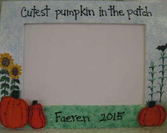 Halloween frame Pumpkin Patch frame personalized frame custom photo picture frame