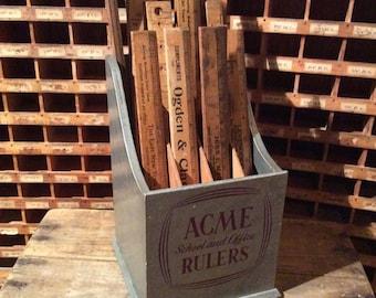 Vintage ACME Ruler Counter Display