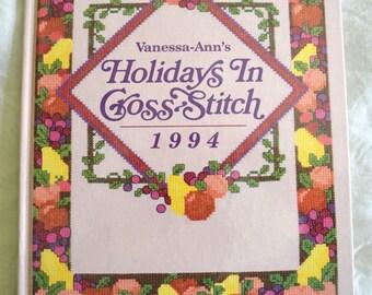 1994 Vanessa Ann's Holidays in Cross Stitch