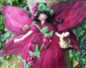 Needle feted fairy of the vine inpired Waldorf