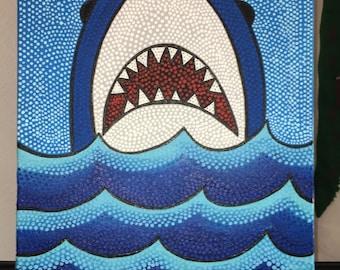 14 x 18 Shark Dot Painting