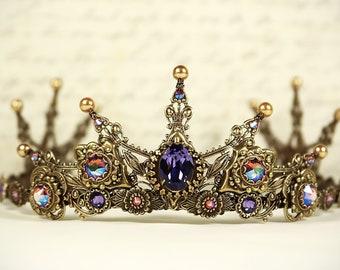 Medieval Tiara, Medieval Bride, Bridal Tiara, Renaissance Tiara, Medieval Wedding, Ren Faire, Queen Crown, Avalon Tiara, Ready to Ship