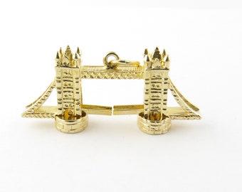 Vintage 9 Karat Yellow Gold London Bridge Charm #3399
