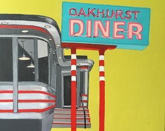 Oakhurst Diner, original painting