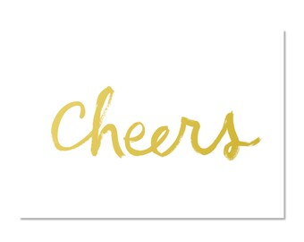 Cheers - set of 8 boxed notecards