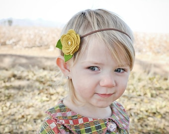 Felt Flower Headband,CUSTOM COLORS,Felt Rose Headband,Baby Headband,Newborn Baby Infant Toddler Girls Women,Single Rose Headband