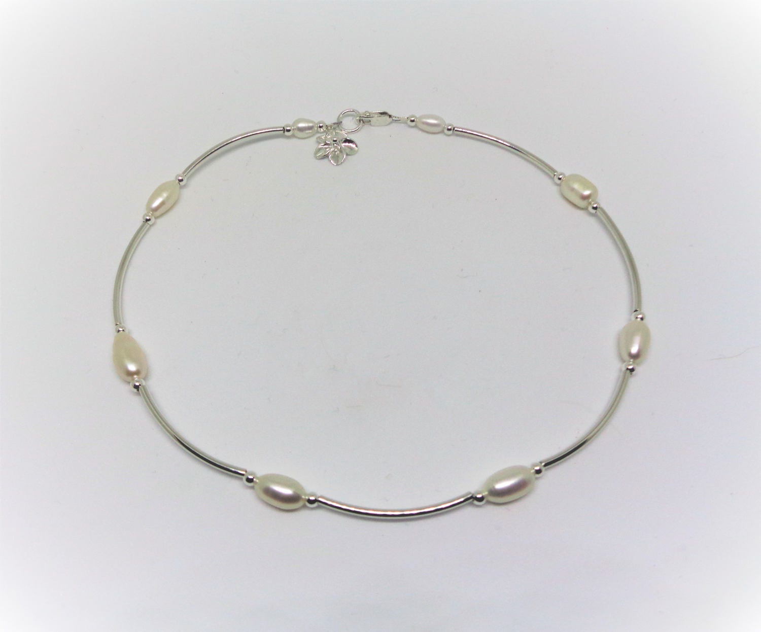 sterling hawaiian silver plumeria chain cz ygp fish star foot anklet