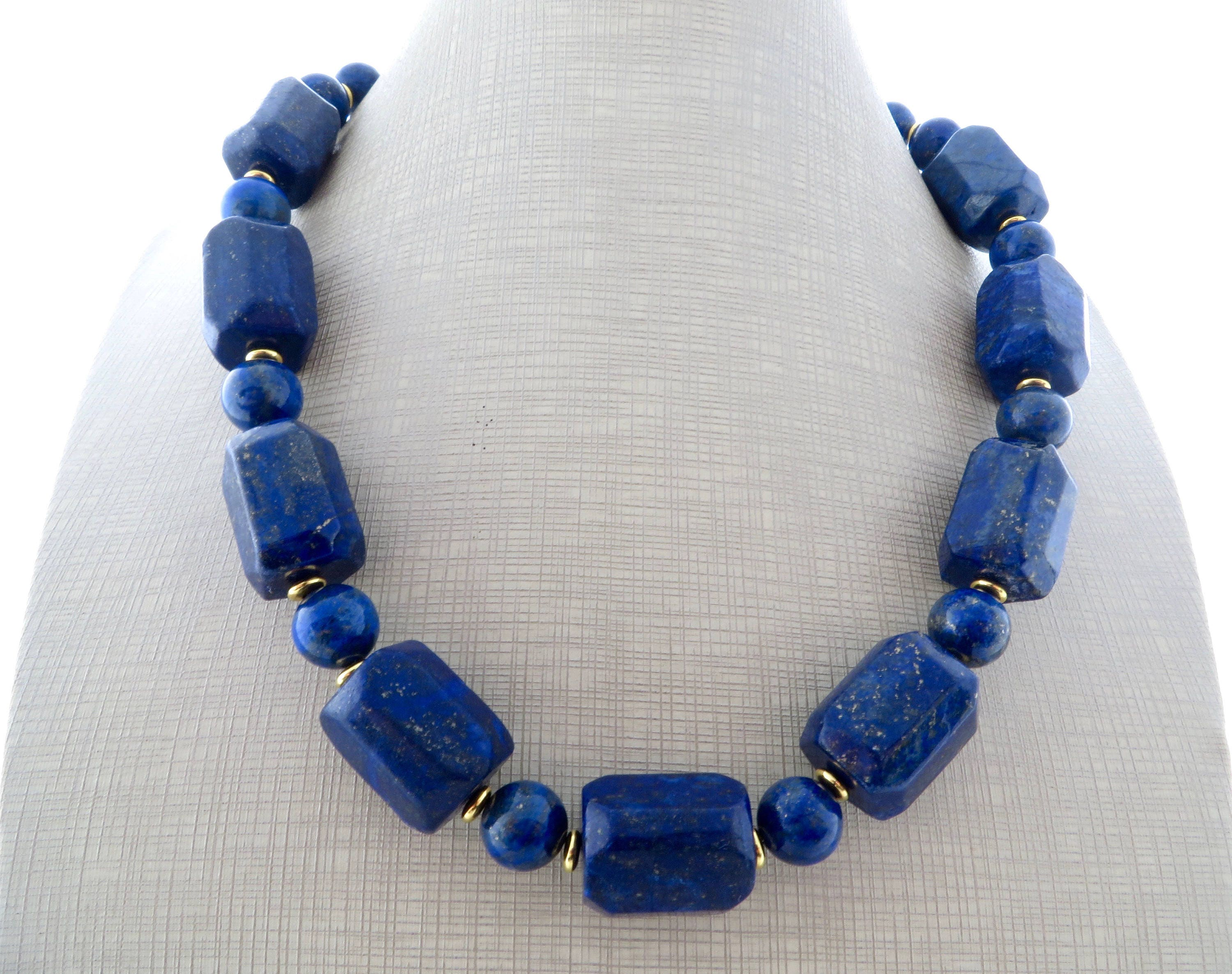 fullxfull bead il necklace blue upcycled gallery photo listing