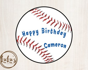 Baseball Birthday Party Sticker - Baseball Birthday Party - Sports Birthday Party Decor - Boys Birthday Party
