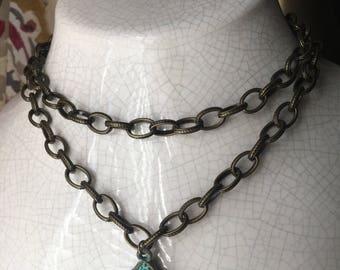 buddha antique bibb necklace