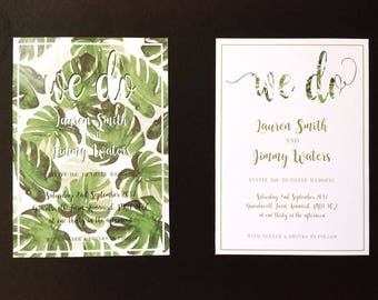 floral leaf print wedding stationery wedding invitations