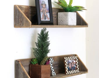 Set of TWO Large Floating Shelves--5 Colors Available!!!