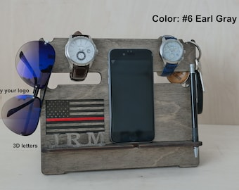 Personalized Charging Station, Iphone stand, Docking Station Gift for men Gifts for boyfriend Mens Gift Ideas Boyfriend gifts mens gift army