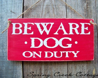 Wood Signs,  Home Decor, Porch Decor, Rustic, Wood Sign, Handpainted, Beware Of Dog, Pets, Dog Signs, Handpainted Wood Signs