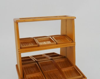 Mini display cabinet with mirror