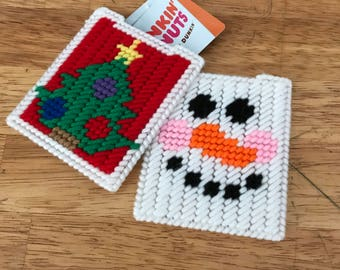 Holiday Themed Gift Card Holder - 2 Styles Available - Plastic Canvas  -- FREE SHIPPING