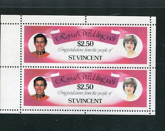 Princess Diana Royal Wedding Souvenir Sheet /Unused Issued in St. Vincent