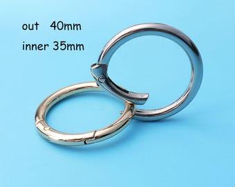 4pcs O Rings  1'1/2inch O Rings, Brass Finish, Gold / silver Purse Handbag Bag Making Hardware Supplies, 40mmdia qq7